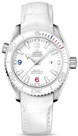 522.33.38.20.04.001   NEW OMEGA SEAMASTER PLANET OCEAN LADIES WATCH IN STOCK   - FREE Overnight Shipping | Lowest Price Guaranteed    - NO SALES TAX (Outside California)- WITH MANUFACTURER SERIAL NUMBERS- Olympic Timeless Collection - Sochi 2014 Olympic Winter Games Edition - LIMITED EDITION, Numbered XXXX / 2014 Ever Made - White Dial- White Ceramic Bezel - Self Winding Automatic Chronometer Co-Axial Movement- Sapphire Crystal Exhibition Back Case- 4 Year Warranty - Guaranteed Authentic…