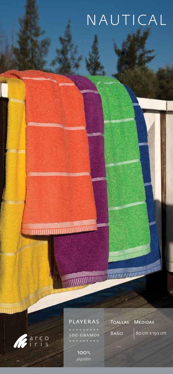 Toallon Playero #ArcoIris 150x80 - 500 gramos - 100% algodón #mayorista #CuencaTextil