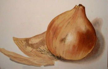 How to Paint an Onion in Watercolors