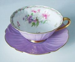 Vintage Lilac Purple Shelley Tea Cup and by SwirlingOrange11