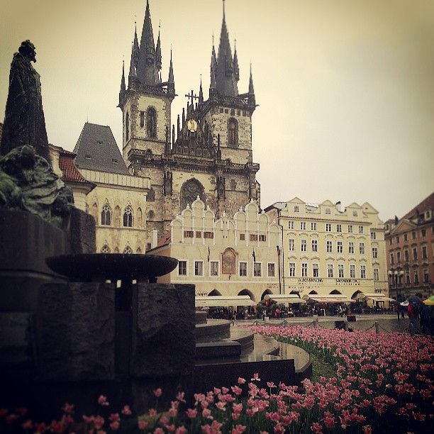 Old Town Square is famous for astronomical clock, church and old houses.