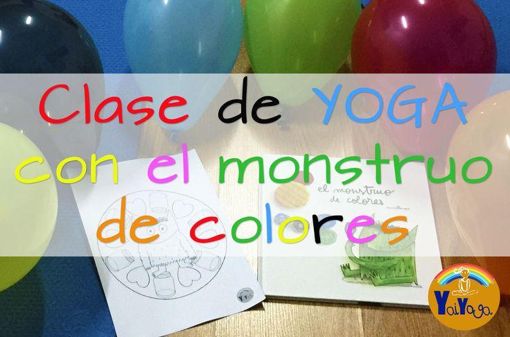 """Clase de yoga para niños a trabés del cuento """"El monstruo de colores"""". #kidsyoga #yoganiños #elyogaylasemociones #monstruodecolores"""