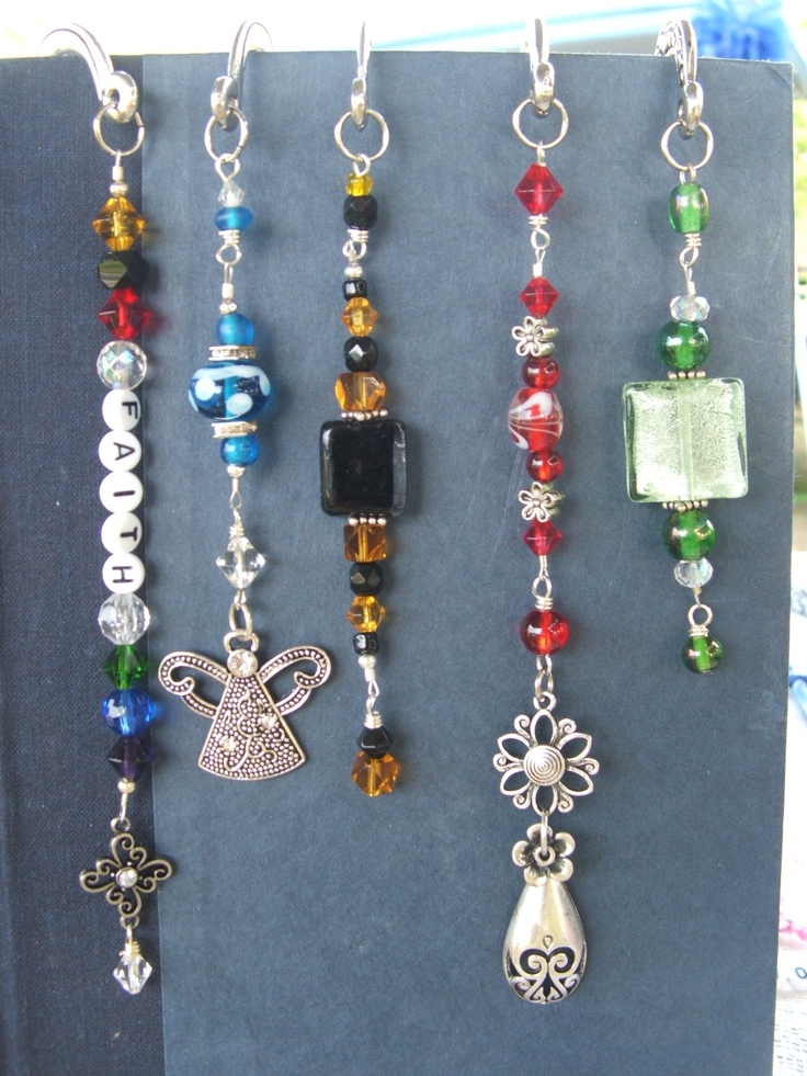 """shepherd hook bookmarks, handmade by me =) the """"faith"""" bookmark is a """"Colors of…"""