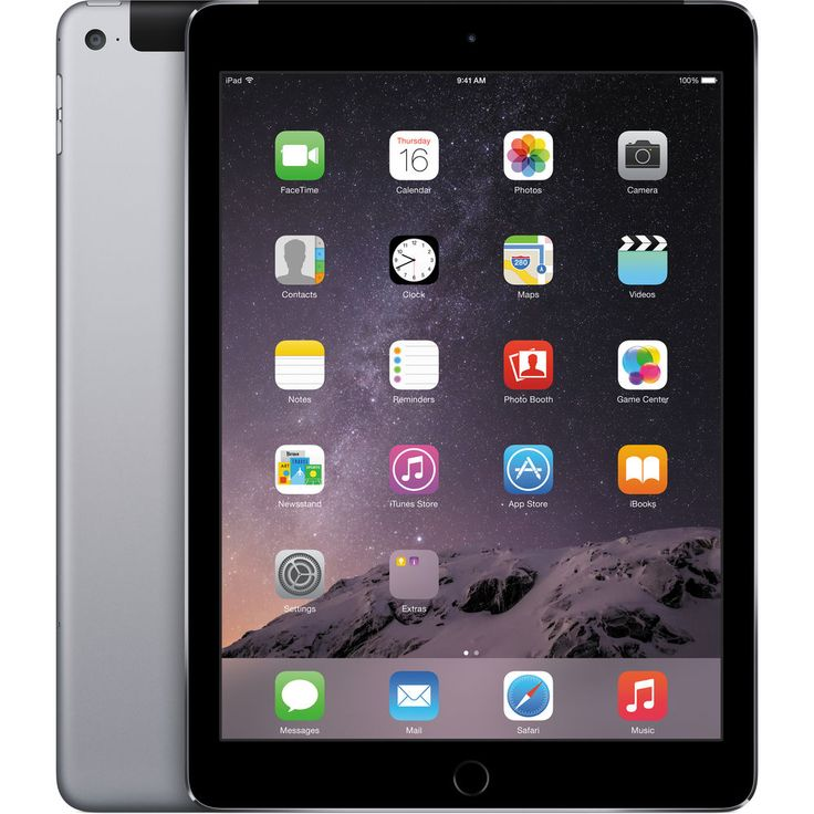 Image of Apple iPad Air 2 128GB 4G LTE Tablet - Space Gray