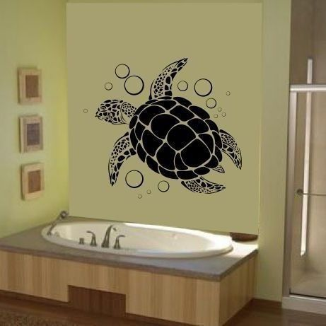 Sea Turtle Wall Art REMOVABLE Vinyl Ocean by DougandMelanie, $14.99