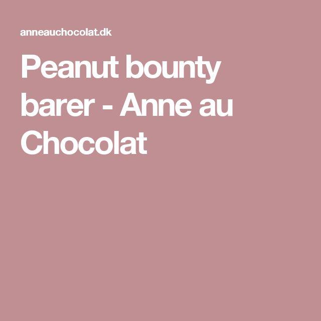 Peanut bounty barer - Anne au Chocolat