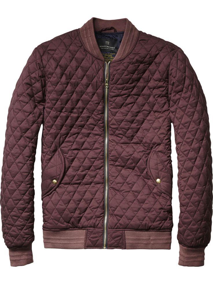 Quilted Nylon Bomber Jacket | Jackets | Men's Clothing at Scotch & Soda