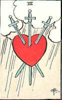 Tarot Karte Drei Schwerter