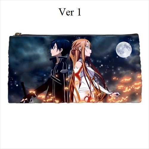 Sword Art Online, Kirito, Asuna, Pencilcase, Anime, Manga, School, Supplies, Sword, Online, Pencil Case, Kawaii, Anime Pencil Case, Bag