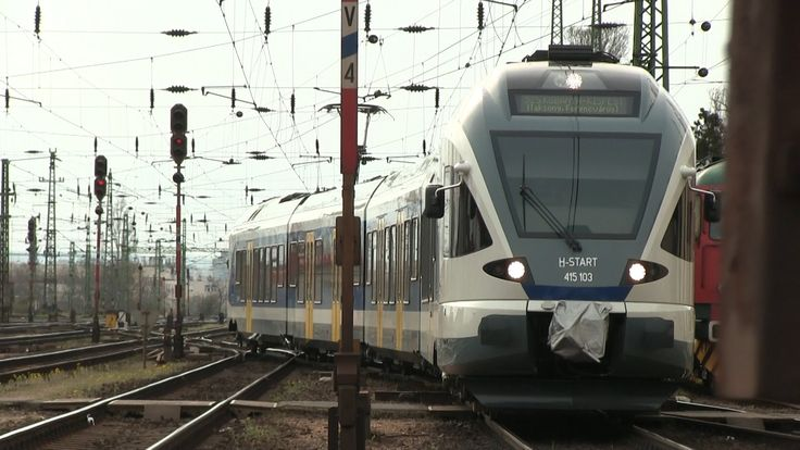 [MÁV] Штадлерский электропоезд 415 103 на ст. Ференкварос, Будапешт, Венгрия, 30.03.2016 [MÁV] Stadler EMU 415 103 at Ferencvaros station, Budapest, Hungary,...