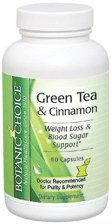 Botanic Choice Green Tea and Cinnamon Capsules - Weight Loss Aide