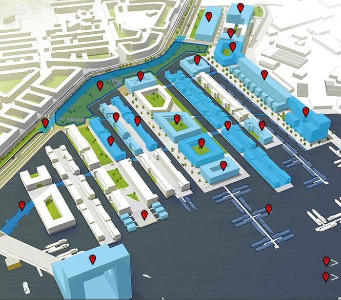 aanklikbare kaart projecten Houthavens