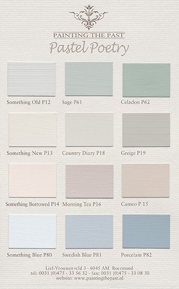 New colours september 2014 selected by Ariadne at Home www.paintingthepast.nl