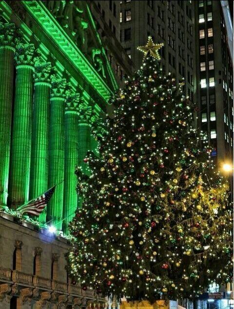 29 best Holidays on Wall St images on Pinterest  Facade Merry