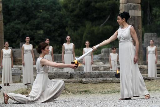 Olympic flame for London Games lit in Greece