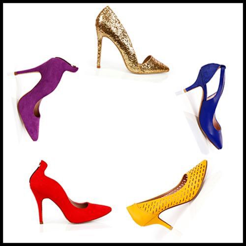 Shoe tip  Brightly colored fashion pumps are a wonderful way to draw attention to a pair of gorgeous tanned or shapely legs.   #INTOTOs #Shoes #ColoredPumps #Heels #ShoeTip