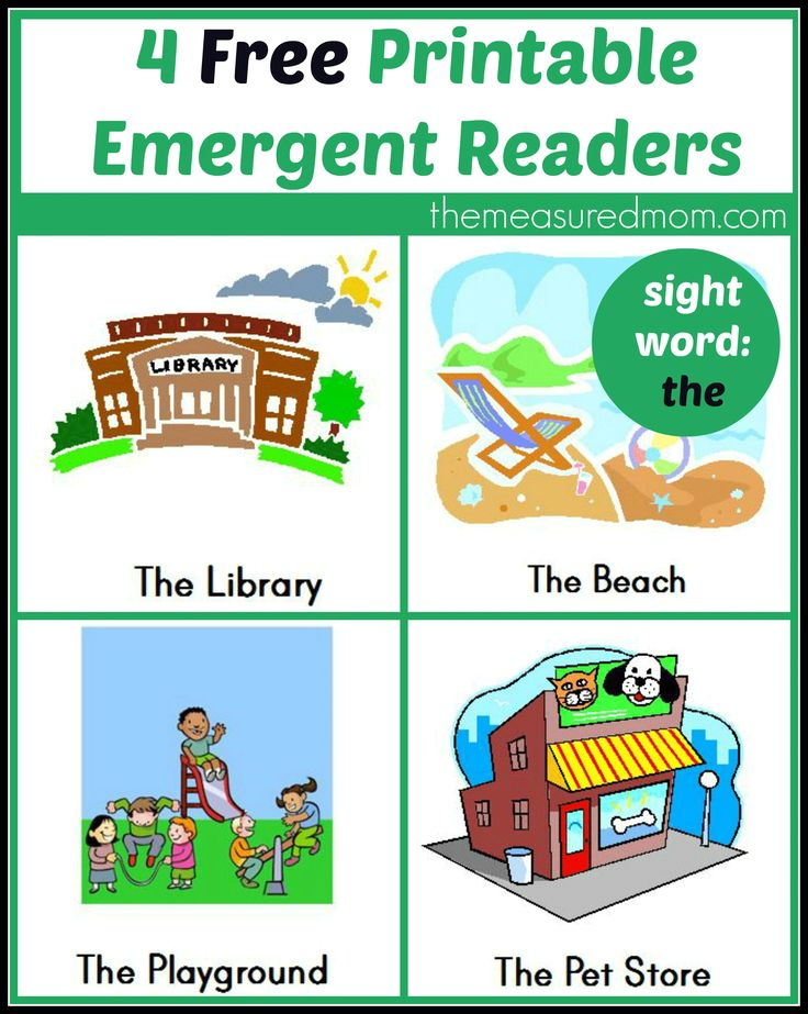 free printable emergent readers sight word the - Free Printable Books For Kids
