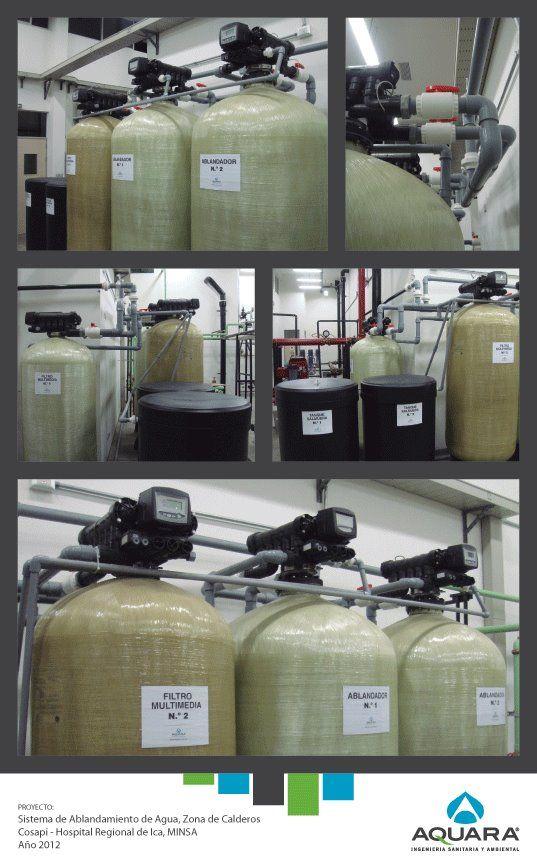 Sistema de ablandamiento de agua - Zona de calderos.