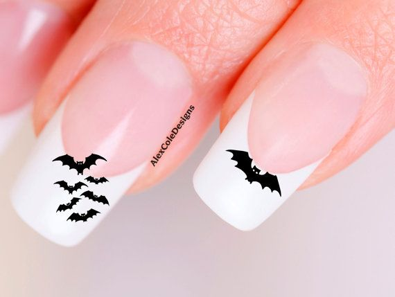 Hey, I found this really awesome Etsy listing at http://www.etsy.com/listing/154933318/spooky-bat-nail-decals-halloween-nail