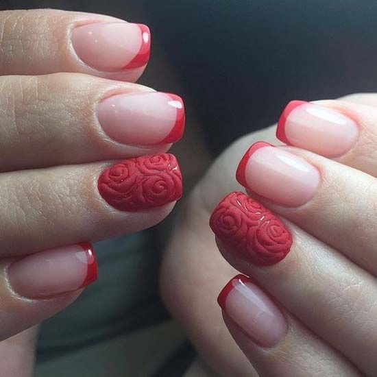 Beautiful red nail art http://miascollection.com
