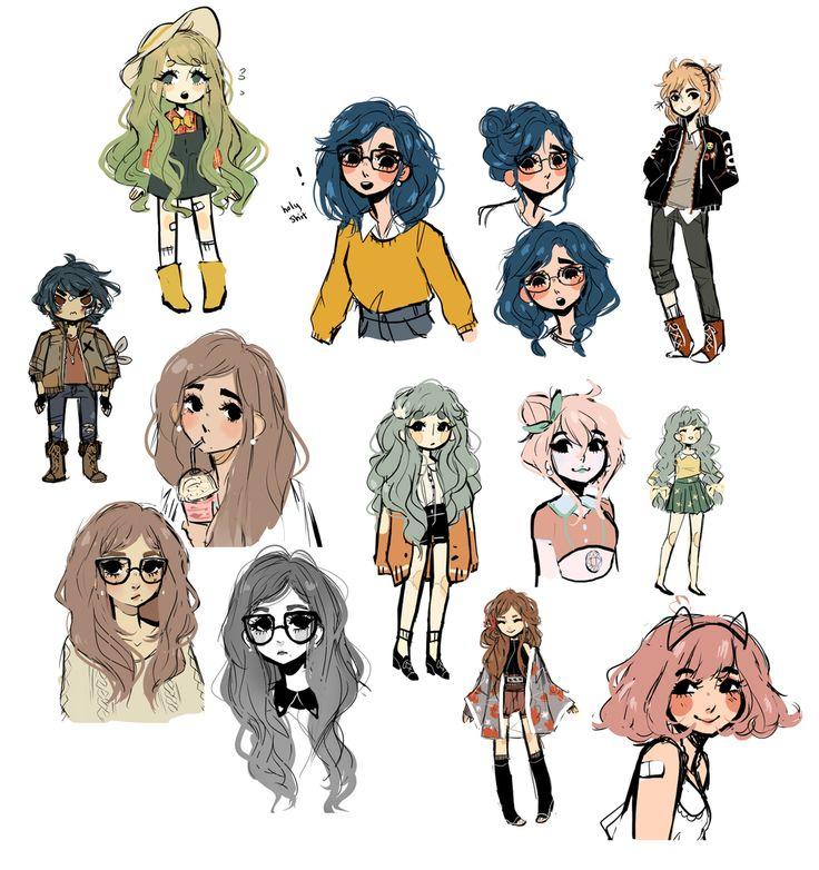 картинки придуманных персонажей рисунки действуют