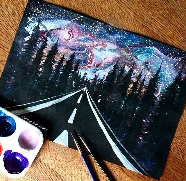 25 best ideas about galaxy painting on pinterest galaxy - Cool designs to paint ...