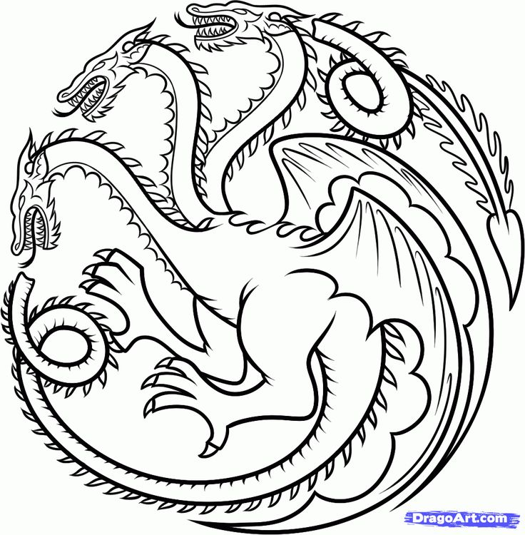 how to draw house targaryen, house targaryen dragon step 12