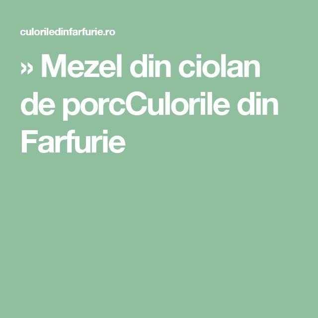 » Mezel din ciolan de porcCulorile din Farfurie