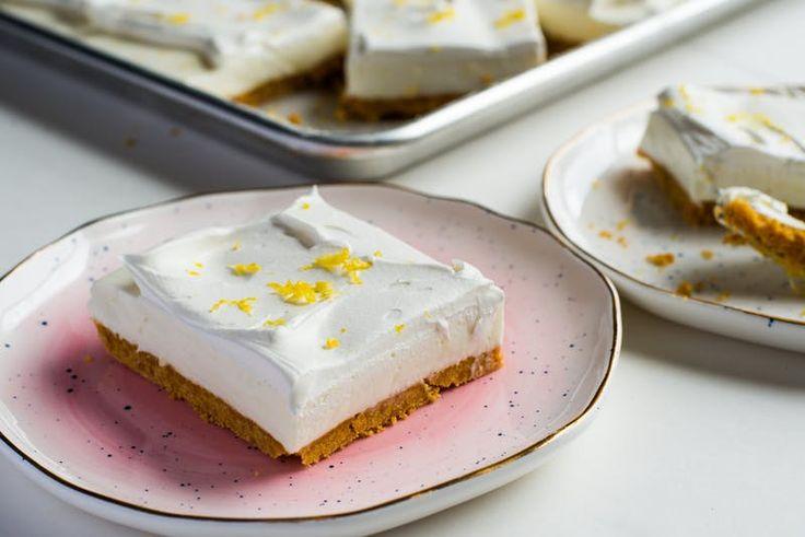 Mennyeien friss, sütés nélküli citromos-joghurtos szeletek