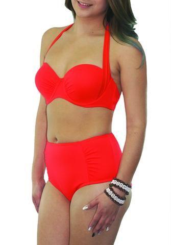Orange High Waisted Bikini