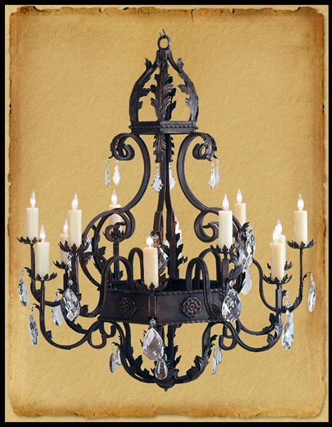 wrought iron chandelier gothic
