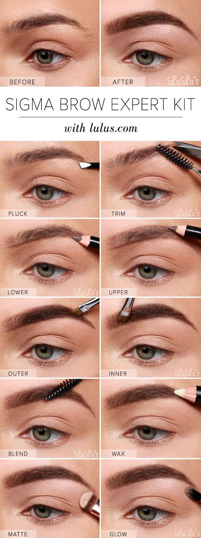 Lulus How-To: Sigma Brow Expert Kit Eyebrow Tutorial at LuLus.com!