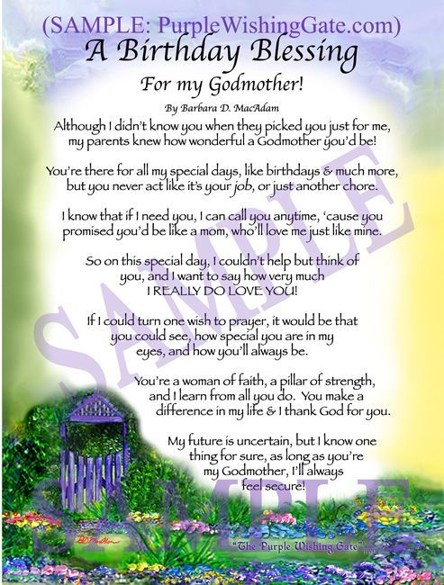 A Birthday Blessing for my Godmother | godparents ...