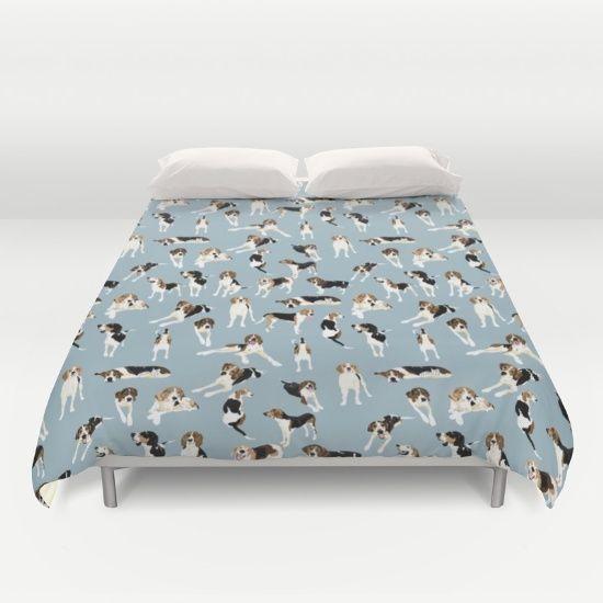 Tree Walker Coonhounds Pattern Duvet Cover