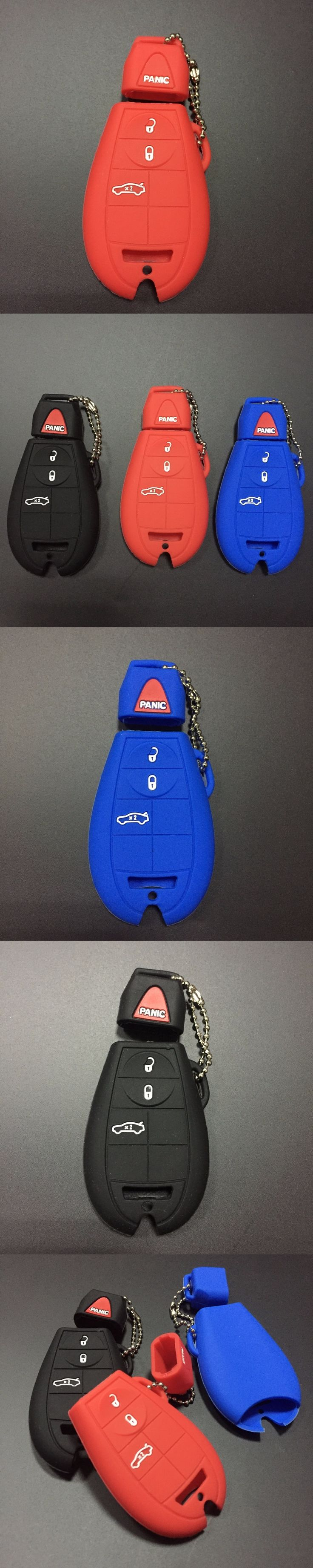 Silicone Car Key Case Cover For Chrysler 300 Town Jeep Commende Dodge Durango Ram 7 Buttons Smart Remote Key Wallte Bag For Jeep