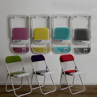 Pantone folding chairs - these look great hung on the wall too