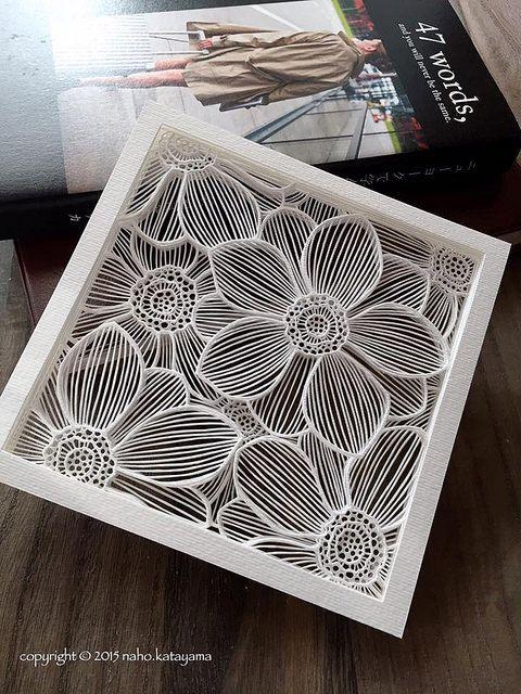 Este papercut acodado de Naho Katayama será presentado en la Colección Pop-Up de Paper Artist Collective. Lea más sobre la tienda, sus participantes y cómo puede ser considerado para ser miembro del Colectivo.pa