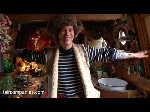 I LOVE this video.  It's hard to believe that people live like this in central London.  She is wonderfully eccentric and very 'British'......tiny living at it's best