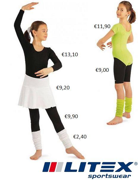 #Kindersportkleding voor sportieve meiden, #balletkleding #turnkleding. Items los te bestellen http://www.litex-shop.nl/kinderen/sportkleding/…
