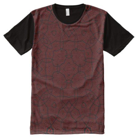 Abstract Pattern dark red All-Over-Print T-Shirt - tap, personalize, buy right now!