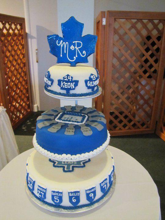 Toronto Maple Leafs Wedding Cake