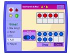 Love this website by NCTM for working with ten frames and combinations of 10.  Works great with interactive whiteboards and Smart Boards.  Students can also work on the games on individual student computers.