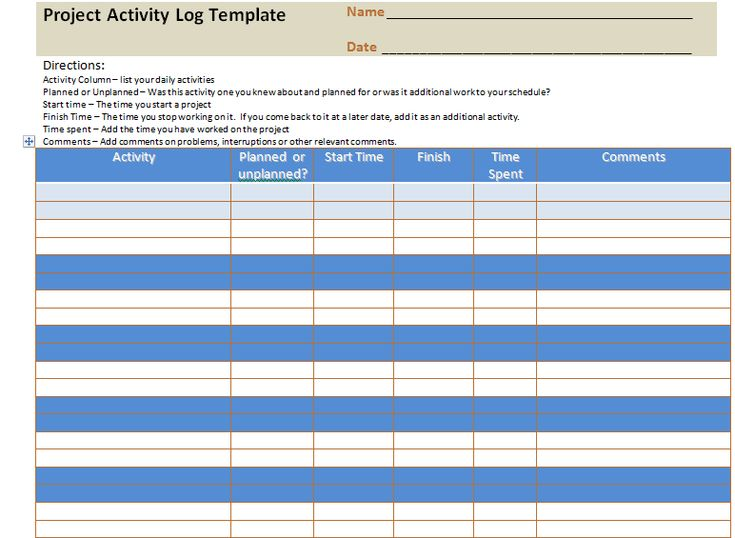 project activity log excel template  u2013 project management templates and certification