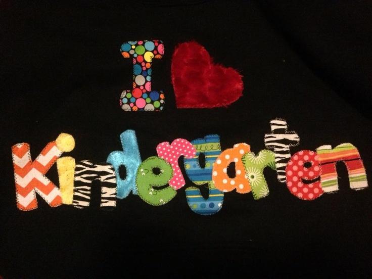 The Land of Glitter: Kindergarten teacher hoodie / T-shirt, applique