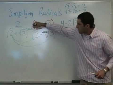 Algebra - Simplifying Radicals (part 2)