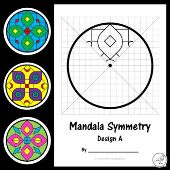 A fun activity for your students when studying geometry or cultural celebrations such as Diwali (The Festival of Lights). Students use the grid lines and lines of symmetry to help them draw the pattern in the other sections of the circle. The lines are light grey and they will become less visible after