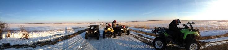 Winter Quading just outside of Vegreville Alberta