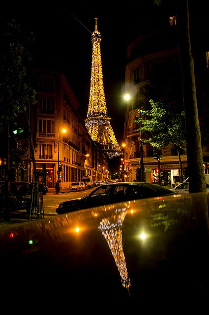 Eiffel Tower reflected on car's top   Flickr - Photo Sharing!