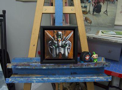 Portrait of Strike. Original Oil Painting (Framed)