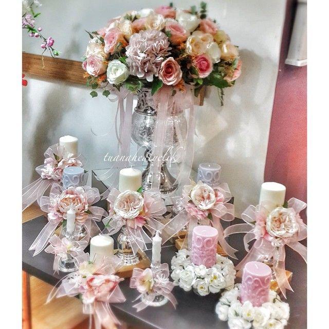 nişan çiçeği nişan masası konsept süsleme mum dekor